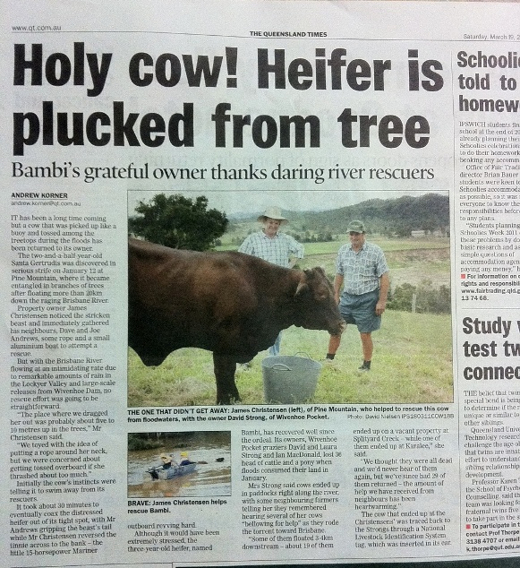 Article in The Queensland Times 19/3/2011